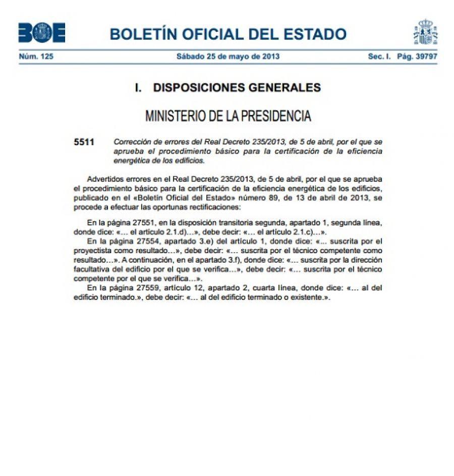 Correccion-Errores-RD-235-2013-Certificacion-Energetica