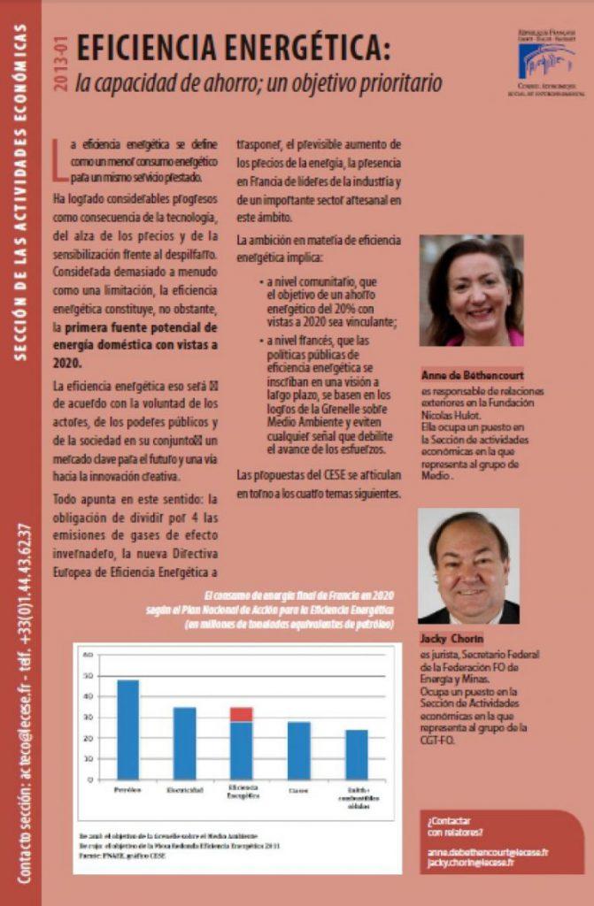 eficiencia-energetica-francia-Objetivos-CESE