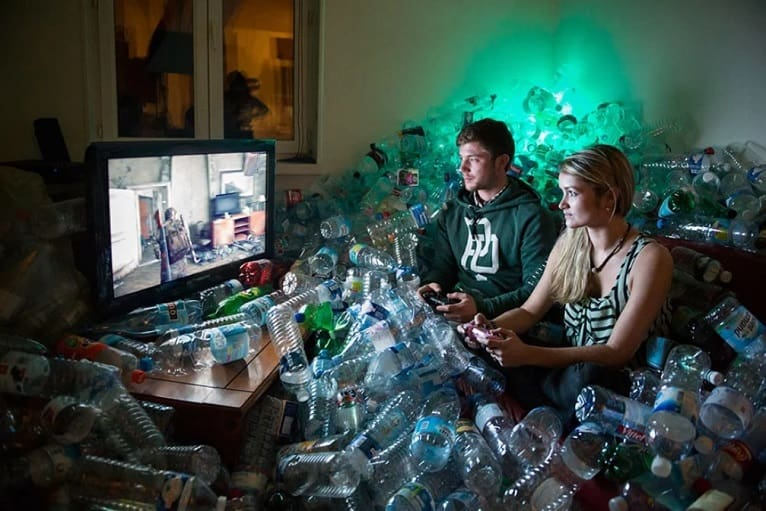 reciclaje-botellas-obras-basura
