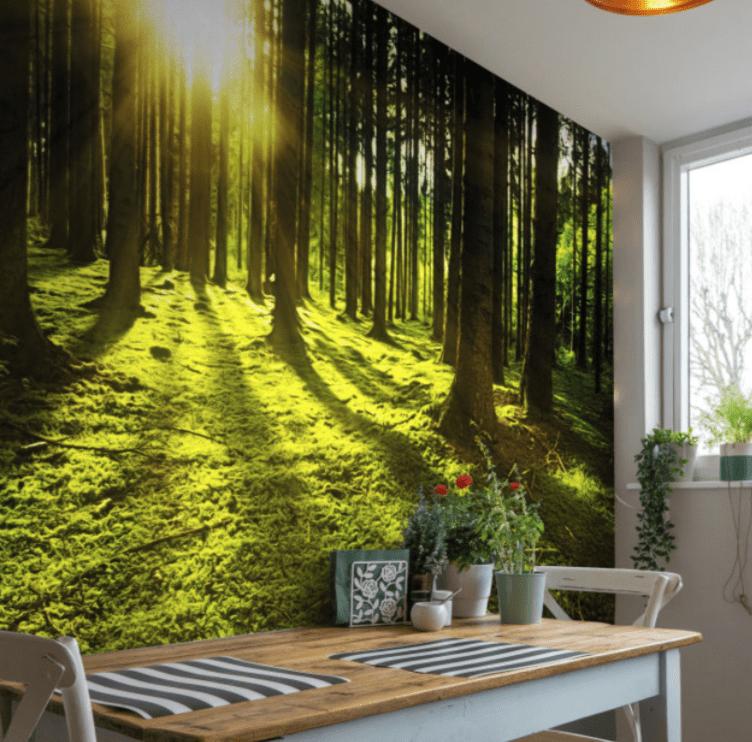 fotomural-cocina-bosque