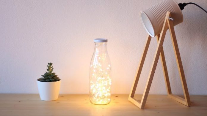 botella-vidrio-lampara