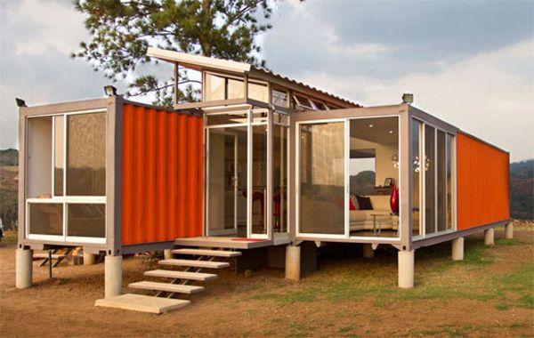 casa-contenedor-naranja-campo