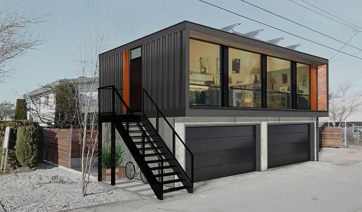 casa-contenedor-plegable-negra