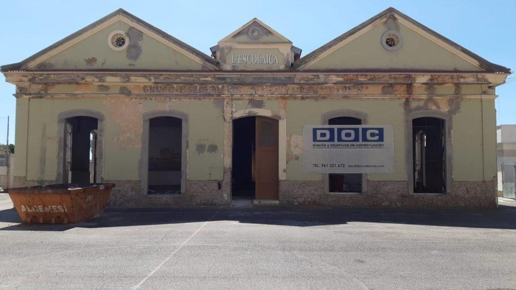 Rehabilitacion-energetica-cubierta-Escolaica-Cullera-fachada-principal